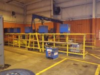 Coffing overhead crane and battery charging s