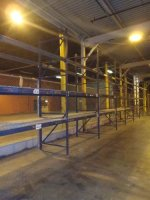 Pallet Racking, 1 run of 9 sections 3 levels