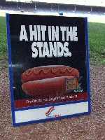 Ballpark Hotdog Sign From Concession Stand. T