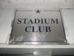 "STADIUM CLUB SIGN. MEASURES 8""X10""."
